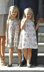 Las infantas y el Papa Benedicto
