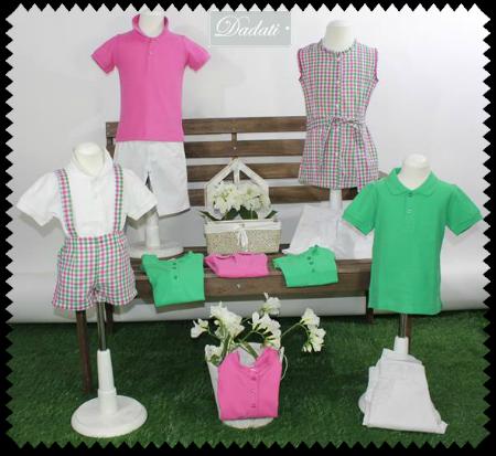 Familia rosa y verde