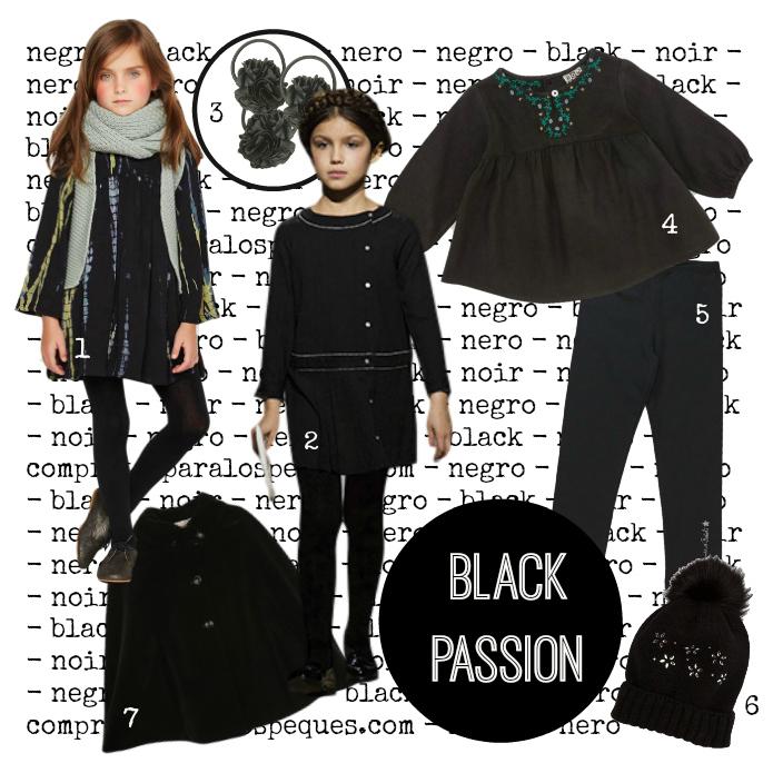 color negro blog moda infantil