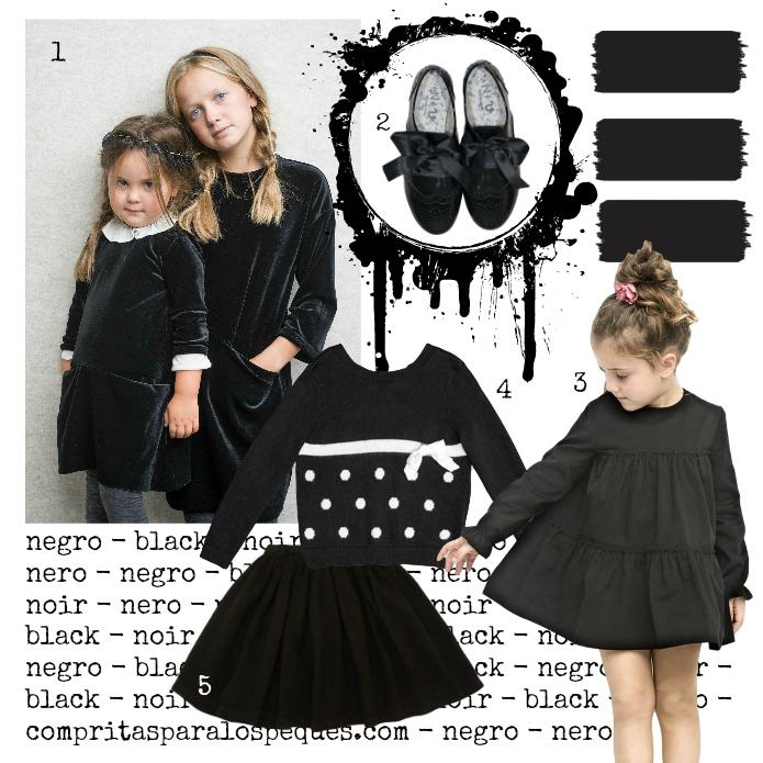color negro niñas